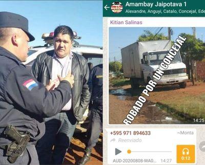 Concejal municipal de PJC no devuelve camión y es tratado de ladrón en redes sociales