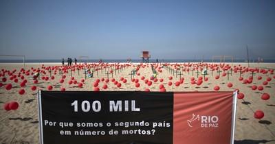 Brasil es el segundo país con más de 100.000 muertes por covid-19