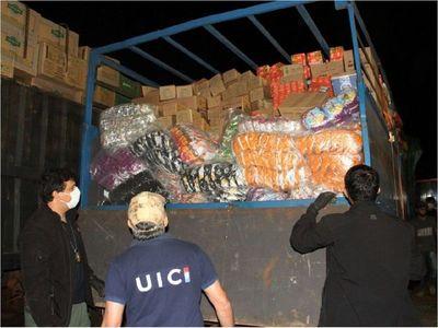 Detienen convoy con más de 30 toneladas de contrabando