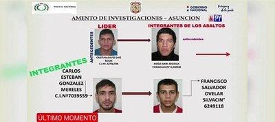 Desbaratan banda de presuntos asaltantes de comercios en Asunción