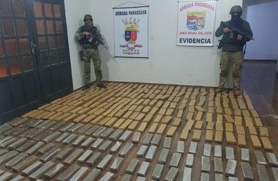 Incautan 346 kilos de marihuana que estaban listos para el envío al Brasil