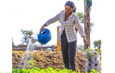 Mujeres emprendedoras de Tekoporã obtienen productos orgánicos para sustento familiar