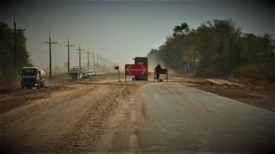 Solicitan mayor prudencia en zona de obras de la ruta de acceso a Loma Plata