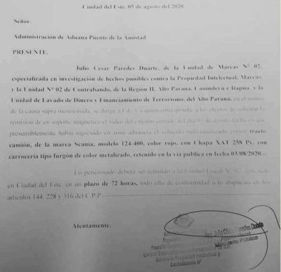 Fiscalía intima a Aduanas a remitir video que dejaría en evidencia a rosca corrupta