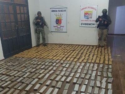 Incautan cerca de 350 kilos de marihuana en zona de Acaray