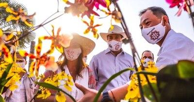 """Taiwán apoya programa """"Ñapu'ake"""" para producción de orquídeas"""