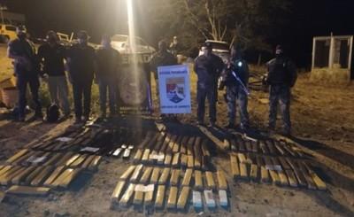 Más de 450 panes de marihuana son incautados por la Prefectura Naval
