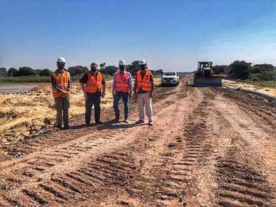 """Avanza la construcción del """"Puente Héroes del Chaco"""" empleando a 100 personas"""