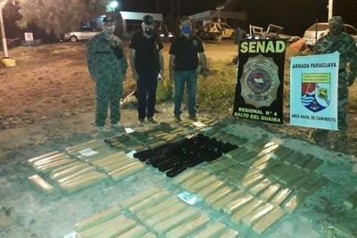 Incautan más de 100 kilos de marihuana en operativo conjunto en Canindeyu