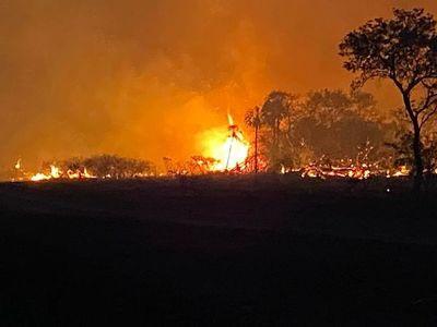 Incendios forestales mantienen en vilo a Bahía Negra y Reserva Pantanal