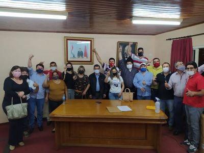 Convencionales y Apoderados de la ANR dan fuerte respaldo al pedido de Intervención propiciado por los 7 valientes concejales