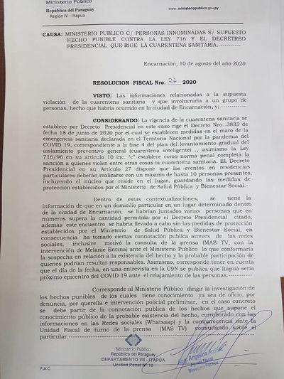 """Fiscalía investiga de oficio presunta """"farra"""" de hijo de influyentes"""