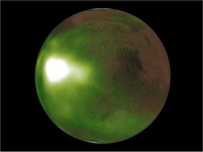 La NASA observa en Marte el destello de una extraña luz