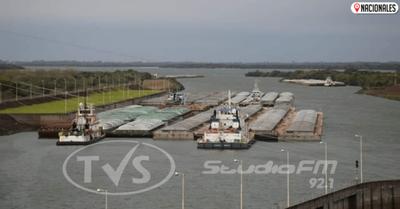 Presidente observó exportación de granos a través de Yacyretá y agradeció cumplimiento de acuerdos de navegabilidad