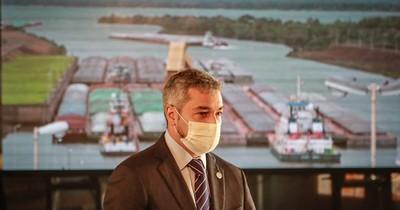 Abdo destaca navegalidad por Yacyretá y anuncia revisión del Anexo B de Itaipú