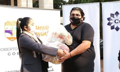 Entregan 871 kits de alimentos a artistas y trabajadores culturales de Alto Paraná