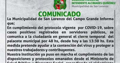 Coronavirus en San Lorenzo: Municipalidad cierra sus puertas por 48 horas