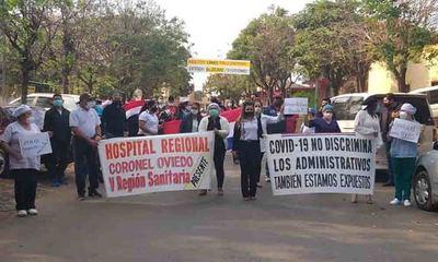 Personales administrativos, de limpieza, mantenimiento y otros realizaron manifestación – Prensa 5