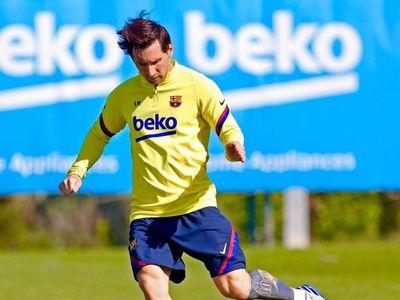 Leo Messi se entrena con normalidad