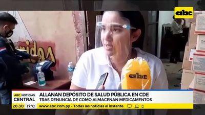 Allanan depósito de salud pública en CDE