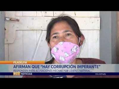 HAY UNA CORRUPCIÓN IMPERANTE DENTRO DE LAS COMUNIDADES INDÍGENAS, EXPRESAN
