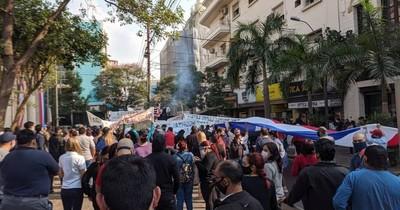 Protestaron en el microcentro