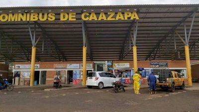 Caazapá: Cierran terminal de ómnibus por sospechas de pasajero con Covid-19