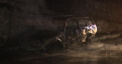 Automóvil abandonado se incendió en el centro de Asunción