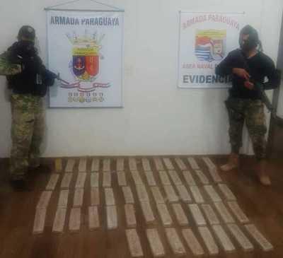 Prefectura Naval incauta marihuana en zona del Acaray