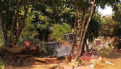 Municipalidad recupera una parte de la franja de protección del lago Acaray