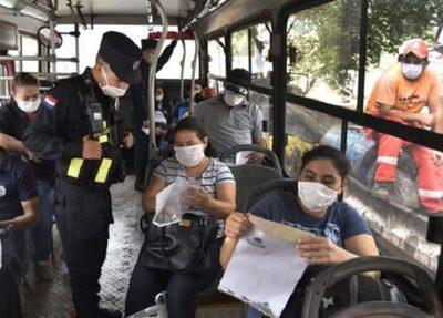Dinatran insta a la ciudadanía a denunciar incumplimiento del protocolo sanitario en los transportes públicos