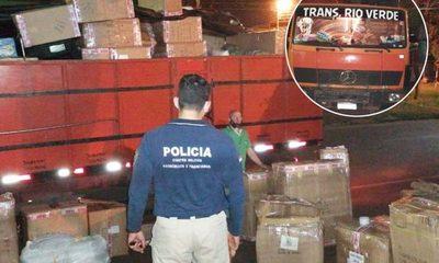 Incautan un camión cargado con mercadería  presumiblemente contrabandeada de Brasil – Diario TNPRESS