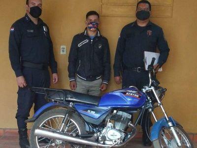 Robó una moto, quiso devolver pero fue detenido