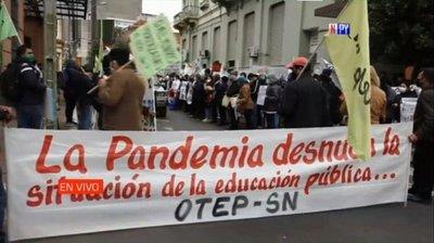 Masivas movilizaciones en Asunción