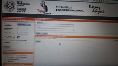 Paraguay Concursa no registra un solo concurso en proceso