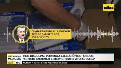 Villamayor pide disculpas por mala ejecución de fondos