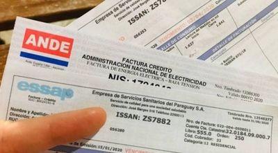 Facturas de Ande y Essap deberán ser pagadas: Proyecto de exoneración va al archivo