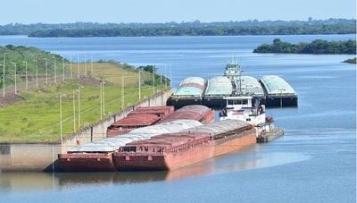 Culminó paso de barcazas con producción nacional a través de la Hidroeléctrica Yacyretá
