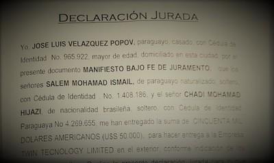 José Velázquez Popov recibió US$ 50 mil para transferir y dejo al descubierto esquema de REMESAS ILEGALES