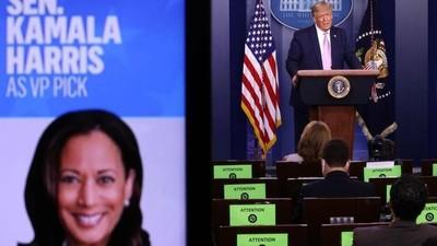 Trump, sobre Kamala Harris: 'Es la más mala, horrible e irrespetuosa del Senado'