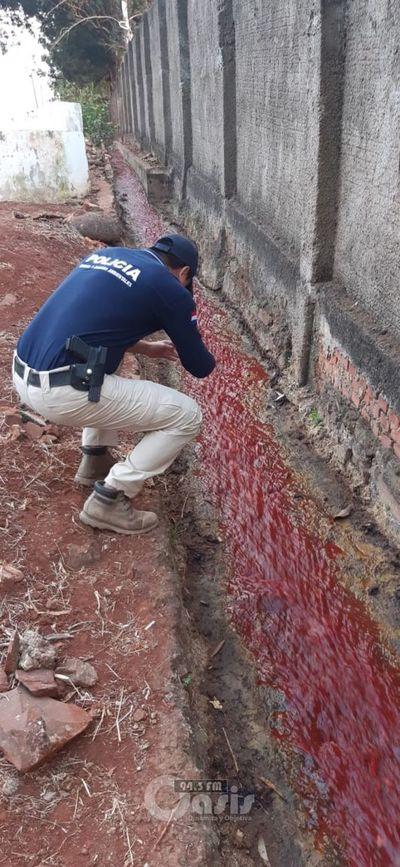 Dos funcionarios municipales detenidos tras contaminación de arroyo por matadero