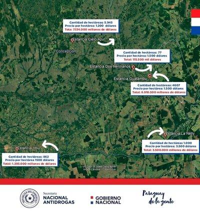 "Estado paraguayo toma posesión de valiosas propiedades de ""Cabeza Branca"""
