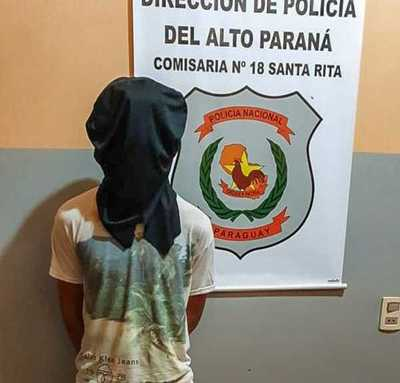 "Detienen al ""TARADO"" de la MOTO en Santa Rita"