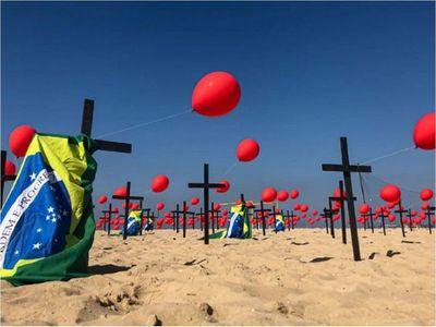 Brasil suma 1.175 muertes y 55.155 casos de Covid-19 en 24 horas