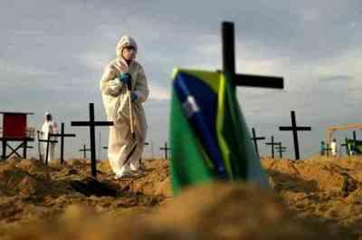 En solo 24 horas, Brasil reportó más de 55.000 contagios y 1.175 muertes por coronavirus