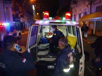 Motochorro terminó herido tras asaltar a una pareja en Asunción