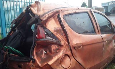 Violento vuelco en San Cristóbal