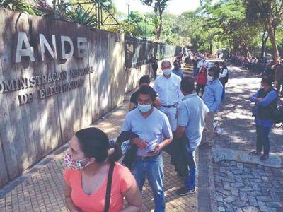 Exoneración de la tarifa de ANDE solo hasta G. 221.000