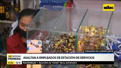 Asaltan a empleados de estación de servicios en Fernando de la Mora