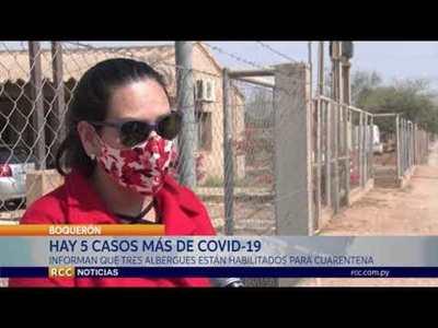 BOQUERÓN: CINCO CASOS NUEVOS DE COVID-19